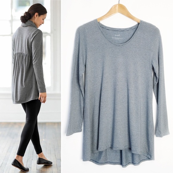 b451ea4b9a1 J. Jill Tops - J.Jill Striped Shirred Back Tunic Size Small
